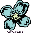 clematis Vector Clipart illustration