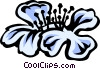 Vector Clip Art graphic  of a hydrangea