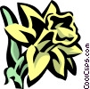 Vector Clipart illustration  of a daffodil