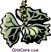 Vector Clipart graphic  of a vanilla leaf
