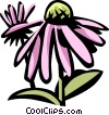 cone flower Vector Clipart illustration