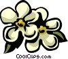 Vector Clip Art graphic  of a forget-me-nots