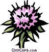 Vector Clip Art picture  of a thistle
