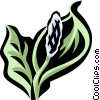 Vector Clipart picture  of a peace lily