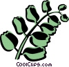 Vector Clipart illustration  of a button fern