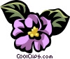 Vector Clipart graphic  of an African violet