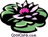 Vector Clipart graphic  of a water lily