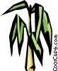 Vector Clipart graphic  of a bamboo