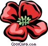Vector Clip Art graphic  of a Poppy
