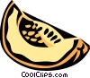 Vector Clip Art picture  of a melon slice