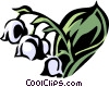 Vector Clipart picture  of a lily-of-the-valley