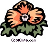 Vector Clip Art picture  of a begonia
