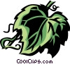 Vector Clip Art image  of a grape leaf