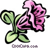 Vector Clip Art graphic  of a rhododendron