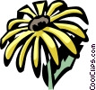 black-eyed Susan Vector Clip Art graphic