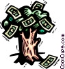 money tree Vector Clipart illustration
