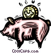 piggy bank Vector Clipart image
