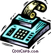 Vector Clipart illustration  of a calculator