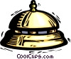 hotel front desk bells Vector Clip Art graphic