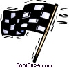 Vector Clipart illustration  of a checkered flag