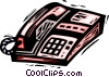 Vector Clip Art picture  of a office telephone