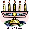 menorah Vector Clip Art graphic