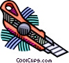 exacto knife Vector Clipart illustration