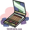 Vector Clipart graphic  of a book of matches