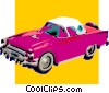 Vector Clip Art graphic  of a classic car