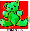 Vector Clipart illustration  of a teddy bear