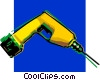 Vector Clip Art picture  of a cordless drill