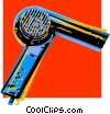 Vector Clip Art image  of a hair dryer