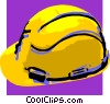 Vector Clipart image  of a hard hat