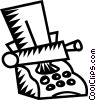 Vector Clip Art graphic  of a typewriter