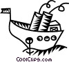 cruise ship Vector Clipart image