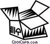 Vector Clip Art graphic  of a shipping box