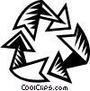 Vector Clip Art picture  of a recycle symbol