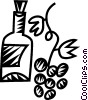 wine and grapes Vector Clipart image