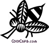 Vector Clipart graphic  of a wasp