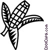 corn Vector Clipart graphic
