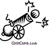 Vector Clipart illustration  of a cannon