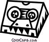 tape case Vector Clip Art graphic