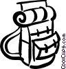 Vector Clip Art picture  of a back pack