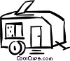 Vector Clip Art image  of a camping trailer
