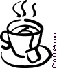 Vector Clip Art graphic  of a tea cup
