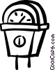 parking meter Vector Clipart image