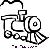 Vector Clip Art graphic  of a trains