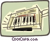 piano keyboard Vector Clipart image