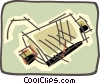 Vector Clip Art graphic  of a muffler