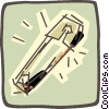 Vector Clipart illustration  of a safety pin